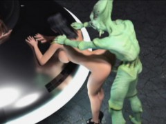 3d brutal aliens destroying girls!