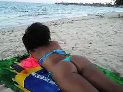 Black Beach Patrol With Ebony Beauty Naomi