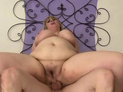 Deepthroating BBW babe screwed in many poses