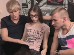 indebted-boyfriend-allows-foxy-friend-to-drill-his-girlfrien