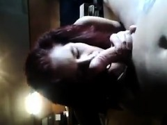 redhead chick sucks on a penis and gets fucked doggystyle WWW.ONSEXO.COM