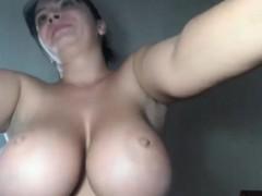 hot-brunette-big-boobs-fucks-big-black-dildo