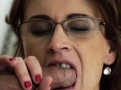 Horny Grandma In Specs