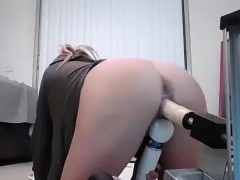 slut rides huge lubed dildo machine WWW.ONSEXO.COM