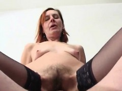Hairy Russian Mature Anal Sex