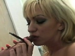 Giant bust on this hottie who loves to smoke and get juicy