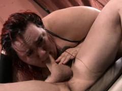 curvy quinn cries as 2 dicks fuck her throat