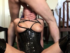 British Slut Analized While Throating Toycock