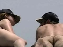 Nude Beach Nice Leg Stretch And Spread