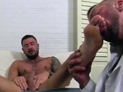 His Cock Hung Down Leg Movie Gay His Big, Rigid Shaft Is