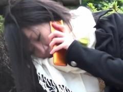 Asian teen pisses panties