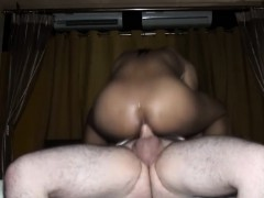 Black Tranny Banged With White Cock