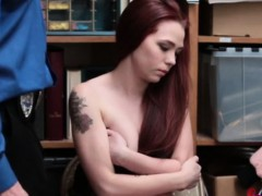 Redhead Chick Filled With Big Dick
