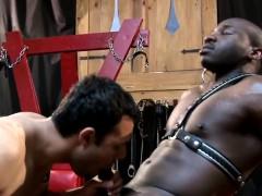 Ripped Ebony Hunks Spitroast Tight White Ass