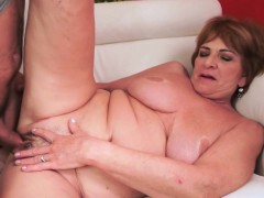 Busty European Granny Banged Passionately