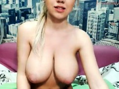 An Appealing Blonde With Big Boobs Masturbating With A Vibra