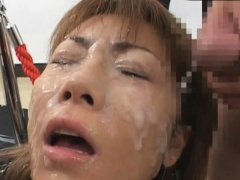 fascinating asian chick needs cum on her face and tits