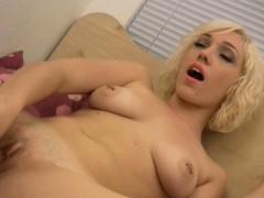 Skinny Blonde Masturbates With A Tiny Toy