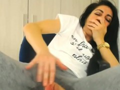 wet muffin in pants with a hole goes on a orgasmic rampage WWW.ONSEXO.COM
