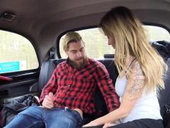 Nice Blonde Female Fake Taxi Driver Bang