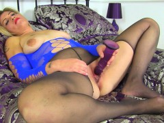 English Milf Emma Fucks Her Shaven Cunt With A Dildo