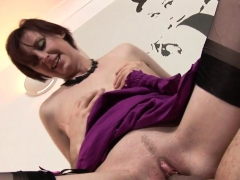 british cougar jizzed in mouth after banging