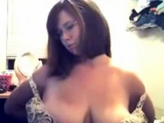 sexy chubby slut squeezing tits