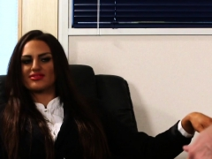 cfnm office babe humiliating and instructing WWW.ONSEXO.COM