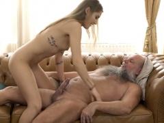 Bearded Grandpa Fucks A Super Hot Blonde Teen Babe