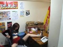 office lovely girl permeated