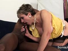 Unfaithful English Milf Lady Sonia Displays Her Giant Boobie