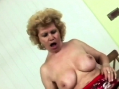 Horny Old Granny Takes A Proper Pussy Pounding