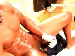 Wanking Ebony Stud Jerking His Bbc