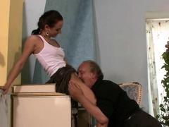 Horny Old Dad Screws His Girlfriend