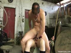 Shemale Sex Slave Banged
