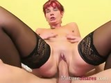 Redhead mature does anal