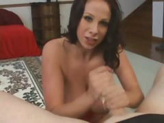 Busty Chick Handjob And Swallow