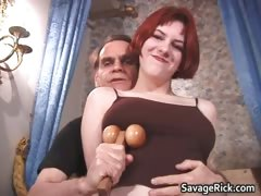 Sexy Busty Ginger Slut Gets Her Tits Part6