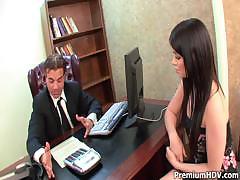 Ashlyn Rae Servers Her Boss Well