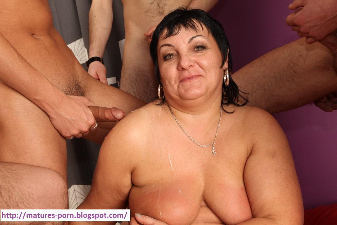 Russian Granny Gangbang