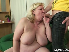 He Fucks Her Huge Mom And Gets Busted