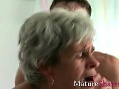 Hairy Granny Rear Fucked