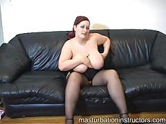 Chubby Jerk Off Teacher Got Her Big Bouncy Tits Exposed For