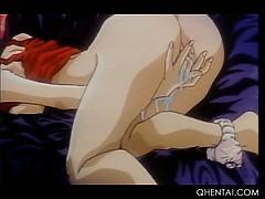 Horny Cute Hentai Princess Masturbating Twat Cums Hard