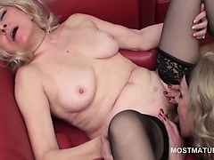 Lesbian Horny Mature Licking Her Gfs Hairy Wet Snatch