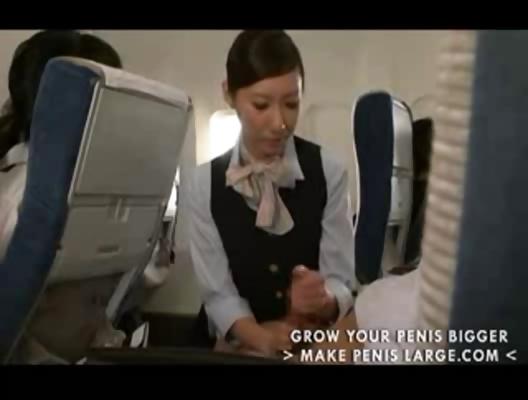 Airline stwardess hand job