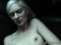 blonde-student-deep-throats-huge-dick-on-backseat-in-public