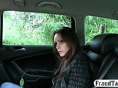 Real Amateur Passenger Slut Nailed In The Backseat