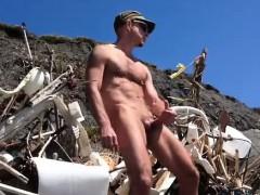 Hot Big Dick At The Beach
