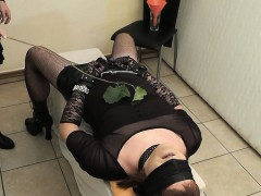 Tranny Slave Fucked And Filled Up
